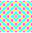 abstract blue green pink and yellow flowers on a vector image