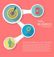 abstract business flat infographic elements vector image vector image