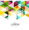abstract colorful geometric template isolated on vector image vector image
