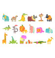 african animals with human attributes and clothing vector image vector image