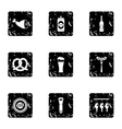 Alcohol icons set grunge style vector image vector image