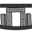 ancient runic stones vector image