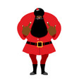 big black bad santa claus shows to vector image vector image