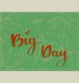 big day retro card with birds vector image vector image