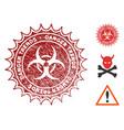 biohazard danger trends watermark with dust effect vector image vector image