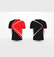 black and red with white sport football t-shirt vector image