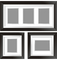 black frame design in three styles vector image vector image