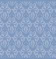 blue baroque style damask seamless pattern vector image