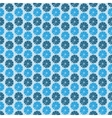 Blue flowers dark background seamless pattern vector image vector image