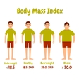 Body mass index men poster vector image