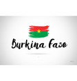 burkina faso country flag concept with grunge vector image vector image
