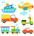 Cartoon vehicles set