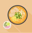 chiang mai noodle vector image vector image
