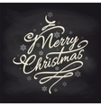 Christmas background with snowflakes on chalkboard vector image vector image