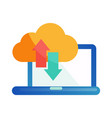 cloud storage flat icon cloud technology vector image