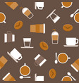 coffee seamless pattern for use as wallpaper vector image