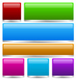 colorful buttons bars with 3d effect vector image vector image