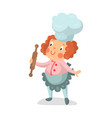 cute cartoon little girl chef character with vector image vector image
