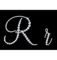 Diamond alphabetic letters of R vector image vector image