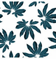 exotic darkt blue leaves seamless pattern vector image vector image