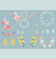 flowers set vector image vector image