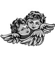 flying angel or cupid vector image