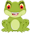 funny frog cartoon sitting vector image