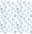 games concept seamless outline pattern vector image