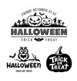 halloween black and white design collections vector image