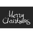 Hand written inscription Merry Christmas vector image vector image