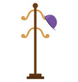 hat stand on white background vector image vector image