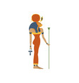 hathor ancient goddess of love symbol of vector image