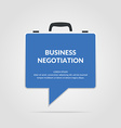 Icon business negotiations vector image