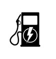icon charging stations of electric cars vector image vector image