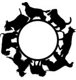 logo with dogs on a white background vector image vector image