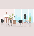 modern office interior workplace easel with empty vector image