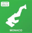 monaco map icon business concept monaco pictogram vector image vector image
