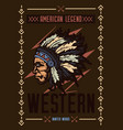 native american with a hat vector image vector image