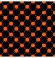 Orange Polka dot Chess Board Grid Black vector image vector image