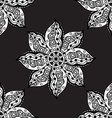 Oriental monochrome ornament vector image