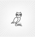 owl bird animal vector image vector image