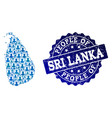 people collage of mosaic map of sri lanka and vector image
