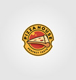 pizza house vintage logo food design vector image vector image