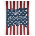 Presidents Day United States of America Flag vector image vector image