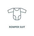 Romper suit line icon linear concept