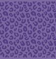 seamless leopard print background pattern purple vector image