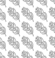 Seamless pattern with doodle fantazy leaf-1 vector image vector image