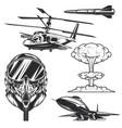 set aviation elements badges logos labels vector image