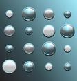 set metal buttons vector image
