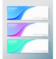 set modern business banners with wave vector image vector image